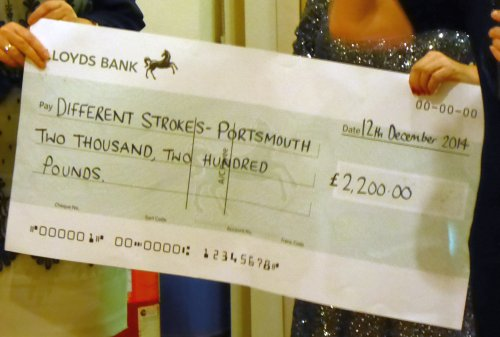 Donation cheque